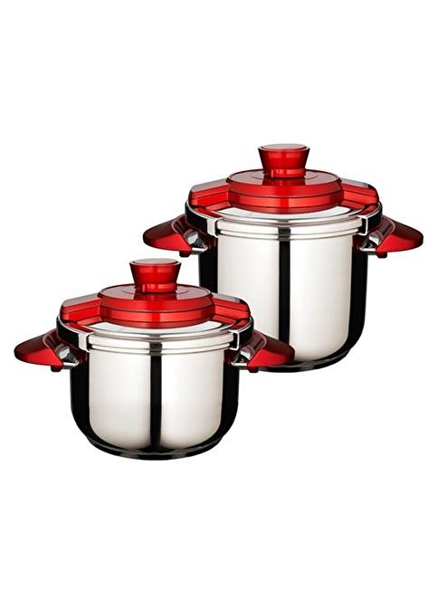 Emsan Fastcook 4+7 Lt Set Kırmızı